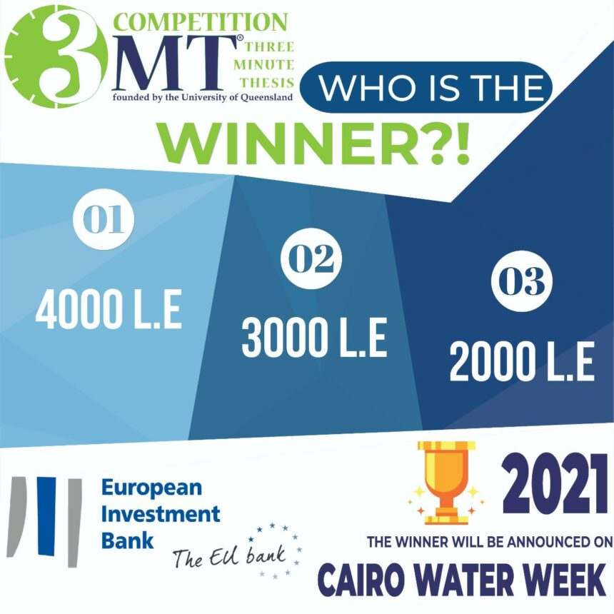 The Three Minute Thesis Competition Awards are presented under the auspices of the European Investment Bank